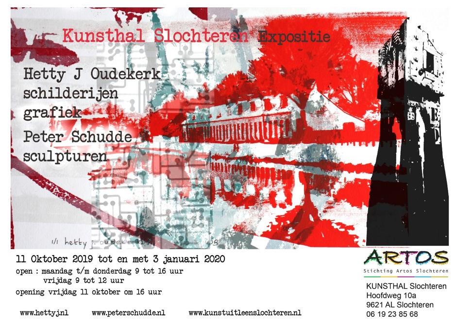 Hetty J. Oudekerk schilderijen grafiek en Peter Schudde sculpturen in de Kunsthal