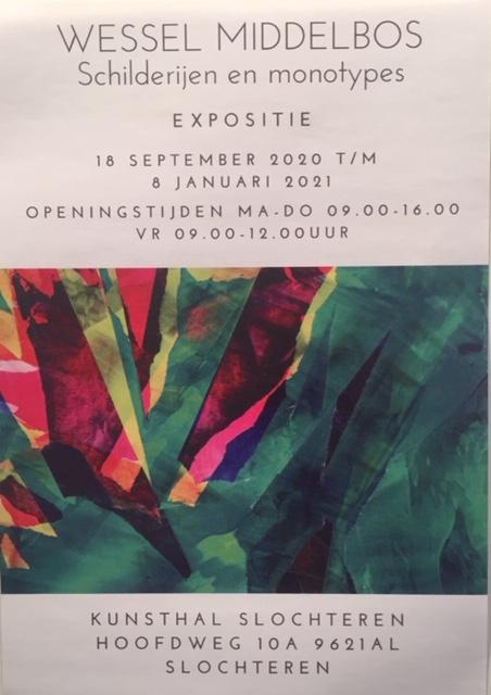 Opening expositie landschappen van Wessel Middelbos in Kunsthal Slochteren.